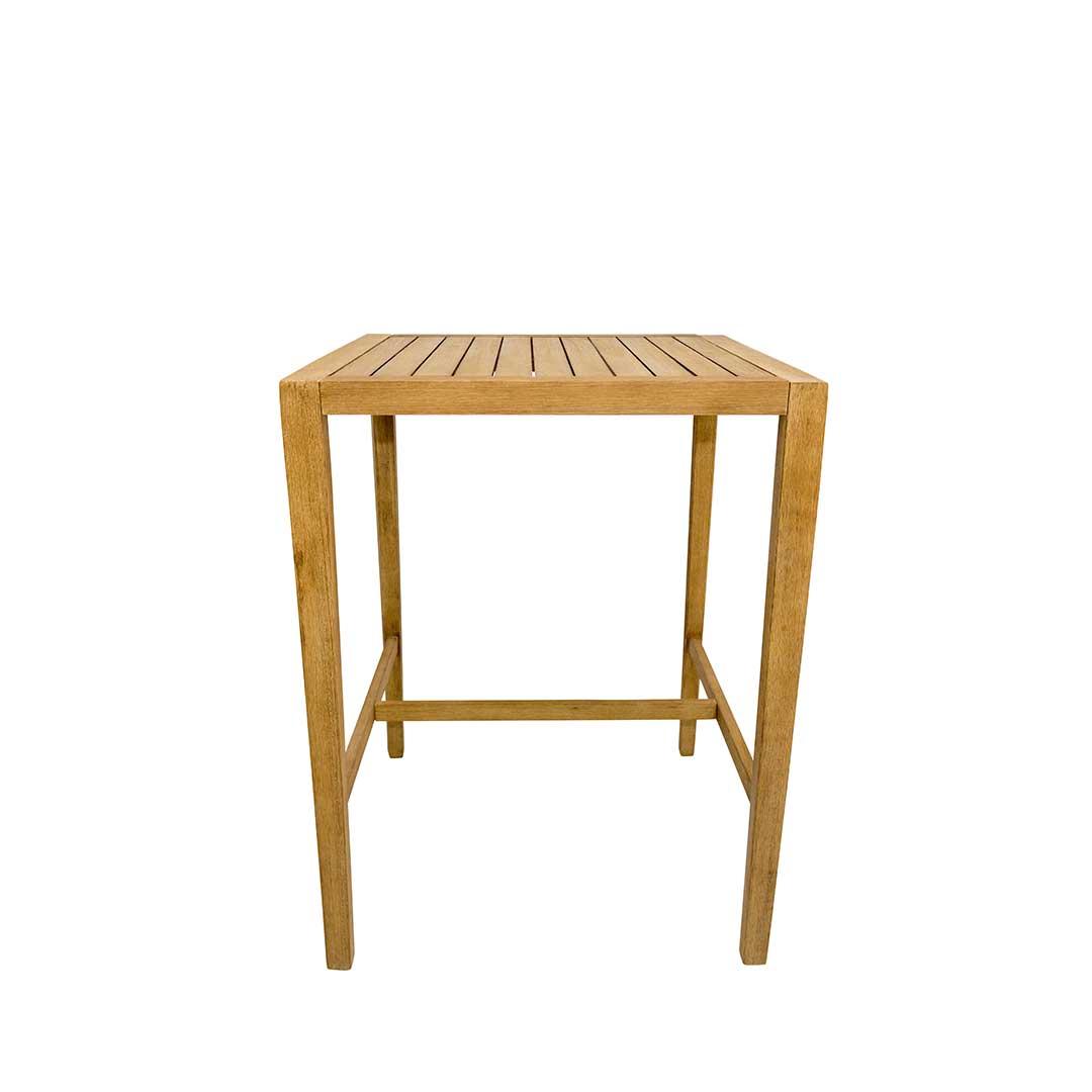 mesa alta em madeira
