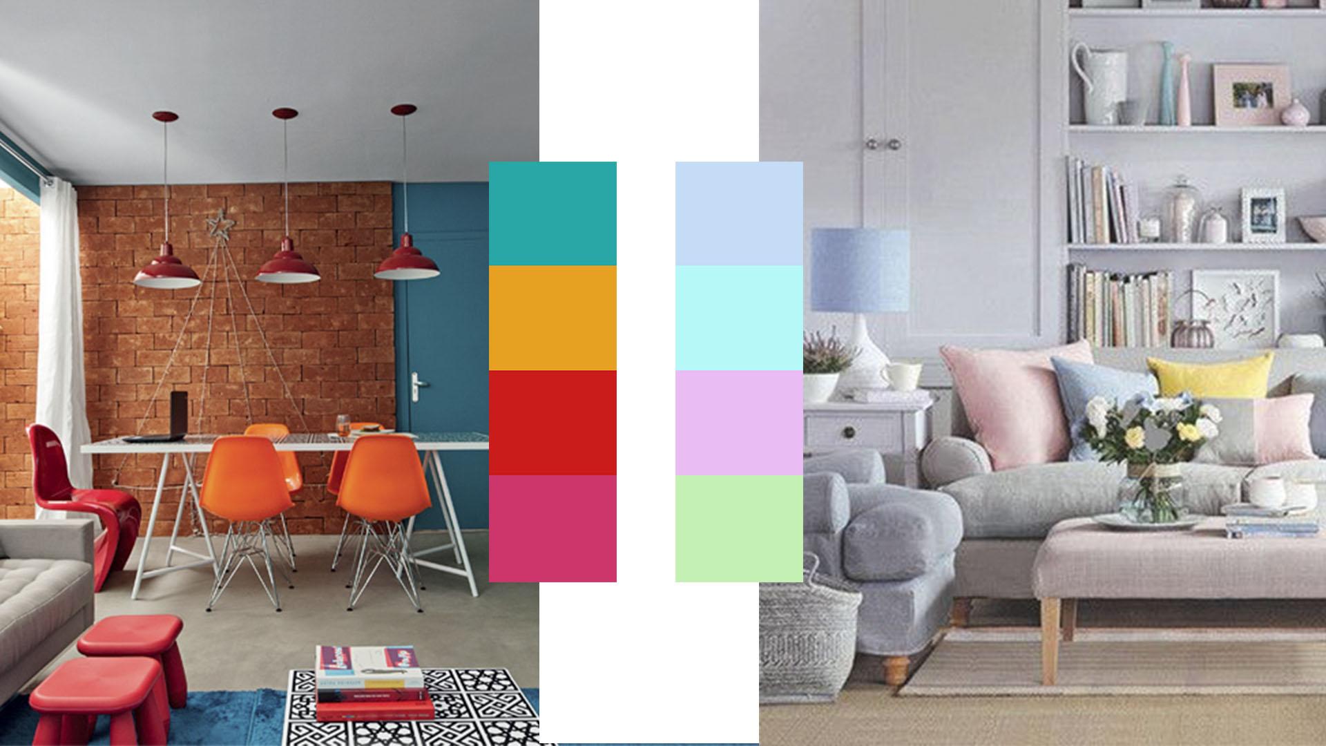 4 ideias para tornar a sua casa num refúgio de Verão: Ambiente cores vivas e vibrantes e ambiente com tons frescos e pastel