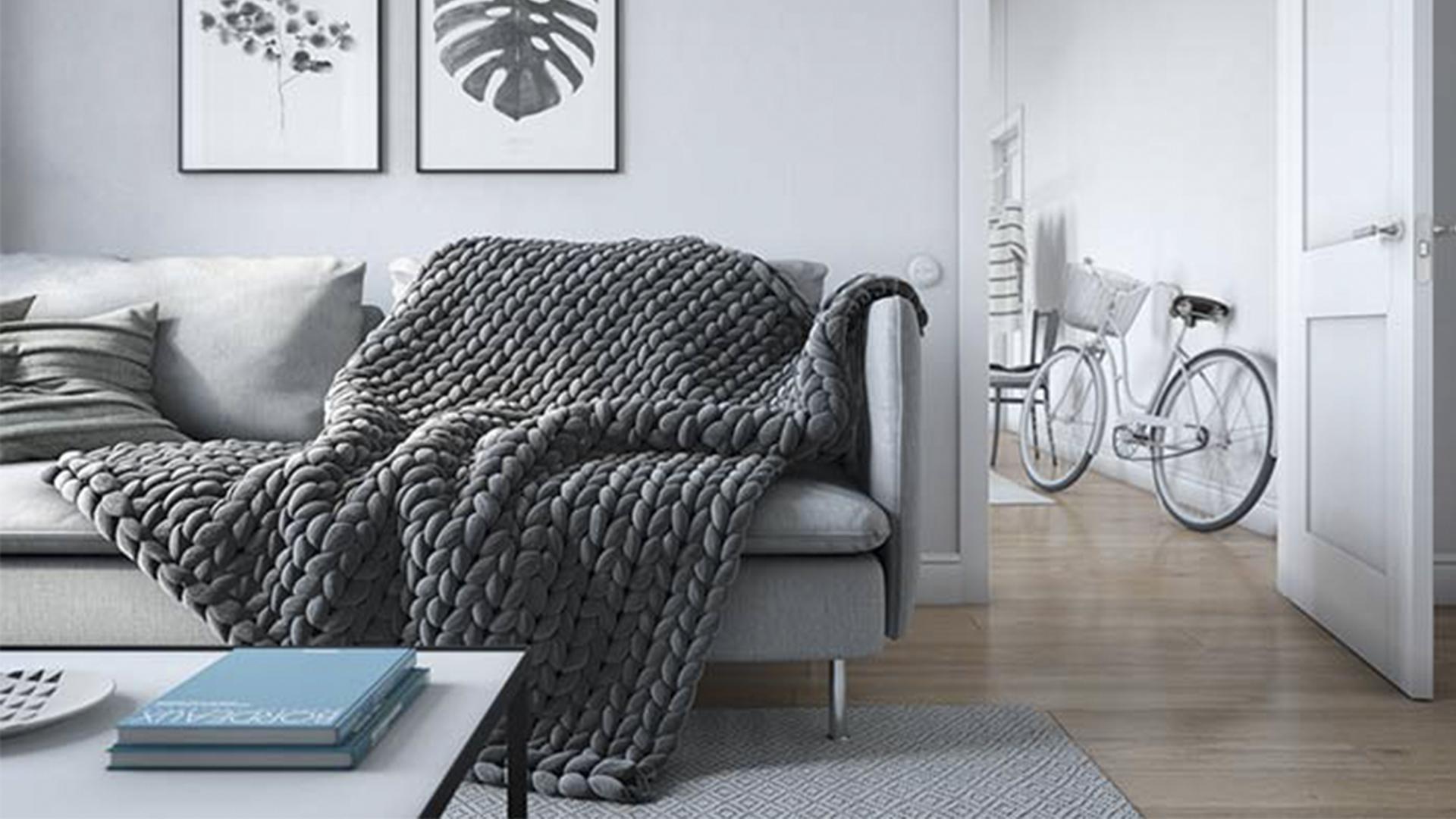 Aquecer a casa - sofá com manta