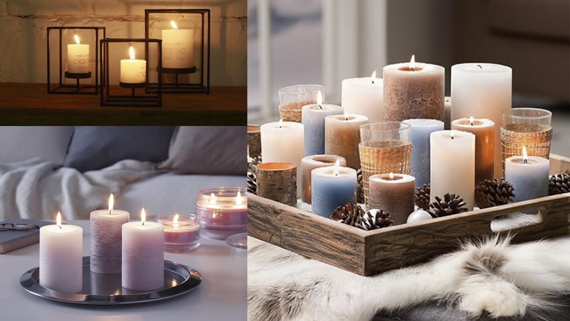 Aquecer a casa - velas decorativas